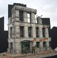 3 story building small 3 story government building plaster model building