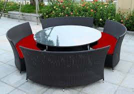 outdoor wicker dining table 57 round table outdoor setting new york rattan outdoor garden