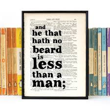 little but fierce literary quote t for her print by bookishly