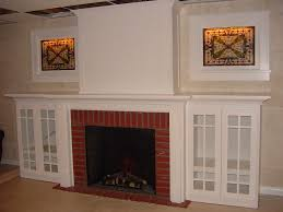fireless fireplace also with a heat surge amish also with a led
