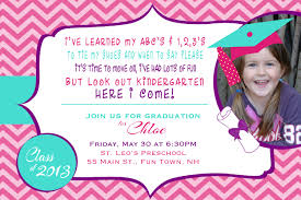 preschool graduation invitations dancemomsinfo com