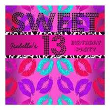 sweet 13 13th birthday purple winter wonderland custom invites