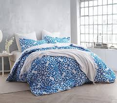 crystalline blue twin xl comforter set college ave cheap