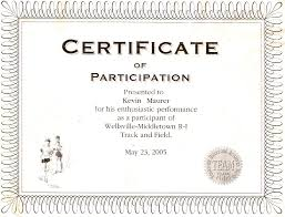 Participation Certificate Templates Free Download Certificate Template Category Page 4 Efoza Com