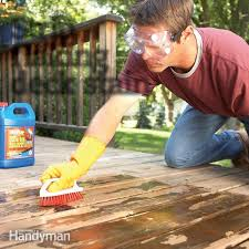 how to remove flaking deck stain family handyman