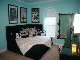 bedroom interactive teen black and blue bedroom decoration using