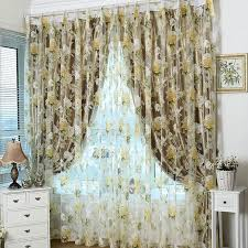 Kitchen Curtain Fabric by Aliexpress Com Buy 2015 Rose Modern Tulle For Windows Shade