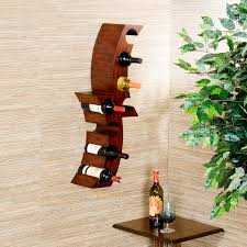 furniture unique brown wood wall mounted wine racks with beige