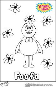 yo gabba gabba foofa coloring pages minister coloring