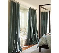 Turquoise Velvet Curtains Velvet Drape Pottery Barn