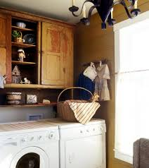 Primitive Laundry Room Decor An Antique Country Themed Laundry Room Chandelier Is Such A