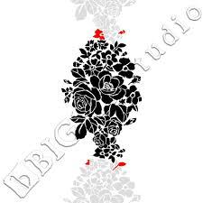 shabby chic stencil u2013 wild flowers floral ornamental pattern 047