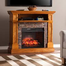 hampton bay cedarstone 29 in 3 element mantel infrared electric