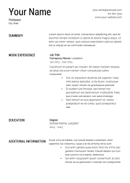 printable resume template free resume templates