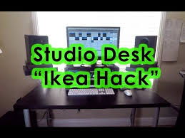 studio desk ikea hack home studio tour youtube