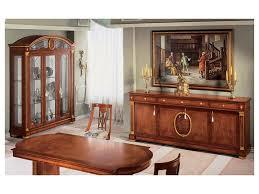 credenza impero credenza in stile classico in legno con finiture oro idfdesign