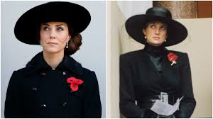 kate middleton draws princess diana comparisons in remembrance day