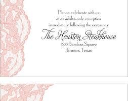 wedding reception wording exles wedding reception only invitation wording exles yourweek