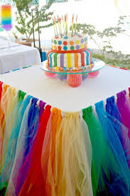 table decoration ideas for parties diy rainbow party decorating ideas for kids hative