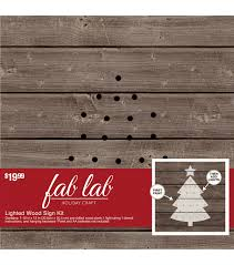 fab lab tree wood light kit great afternoon holiday diy for the
