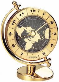 World Time Clock Map by Clockway Seiko Kipler World Time Globe Desk Clock Gsk4128