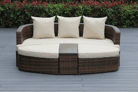 beautiful outdoor patio wicker furniture mixed brown deep seating