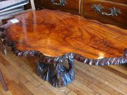 large tree stump coffee table amish tree stump coffee tables