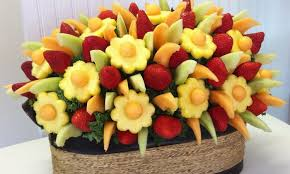 fruit arrangment fruit arrangement course adam and fruit bouquets groupon