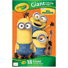 crayola giant coloring pages featuring minions 18 pages
