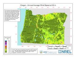 map of oregon i 5 windexchange oregon 30 meter residential scale wind resource map
