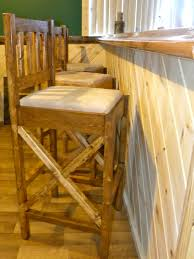 Rustic Bars Ana White Rustic Bar Stools Diy Projects