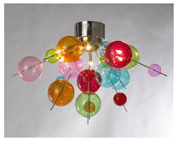 Ball Chandelier Lights 12 Collection Of Coloured Glass Chandelier