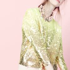 mardi gras sweater for i out j crew collection neon ombré sequin