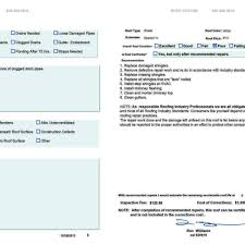 roof inspection report template sle roof inspection report and roof assessment report ondy