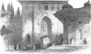 Ottoman Porte Turkey Istanbul Dardanelles Sublime Porte Antique Print 1850