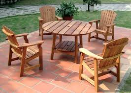 Wooden Patio Tables Garden Furniture Cedar Hydraz Club