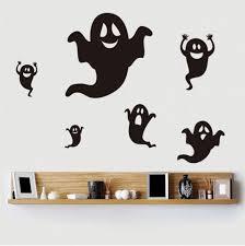 Diy Halloween Wall Decorations Black Home Decor Diy Halloween Ghost Shape Wall Stickers Rosegal Com