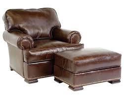 leather armchair and ottoman regardg leather chair ottoman swivel