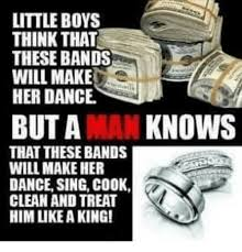 Bands Make Her Dance Meme - little boys think that these bands will make her dance but a man