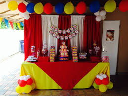 circus theme kids party decoration cake table ideas for
