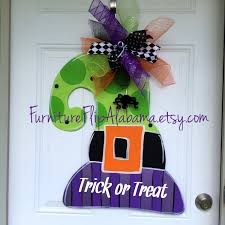 Fall Halloween Wreaths by Witch Hat Door Hanger Halloween Door Hanger Fall Door