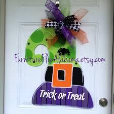 Witch Wreath Halloween by Witch Hat Door Hanger Halloween Door Hanger Fall Door
