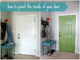 add some color to your foyer by painting the inside of your front