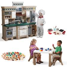 Pretend Kitchen Furniture by Deluxe Kitchen Play Set Kids Toy Combo Step2