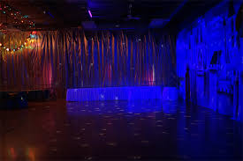 disco rental party area with disco light and black light effect welcome to