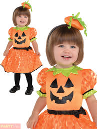 Pumpkin Costume Girls Baby Toddler Cute Pumpkin Costume Halloween Fancy Dress
