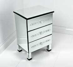 tall side table with drawers tall mirrored bedside table with three gorgeous drawers and legs of