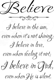 religious wall quotes christian wall decals i believe in sun