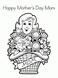 happy mother u0027s day mom coloring page for kids coloring pages