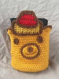 crochet honey bear basket crochet basket yarn basket home decor